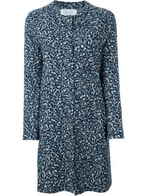 Фактурное пальто Harris Wharf London. Цвет: синий