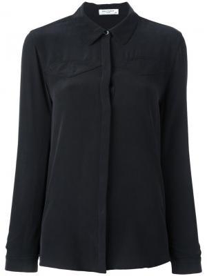 Рубашка с потайной застежкой Equipment. Цвет: чёрный