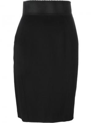 Короткая юбка-карандаш Jean Paul Gaultier Vintage. Цвет: чёрный