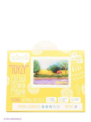 Набор - Toyzy Прованс Картина шерстью TZ-P019 КОНТЭНТ. Цвет: желтый, белый