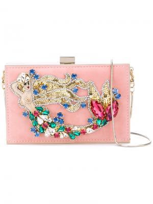 Клатч Boxy Mermaid Gedebe. Цвет: розовый и фиолетовый