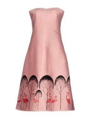 Платье до колена VIKA GAZINSKAYA. Цвет: розовый
