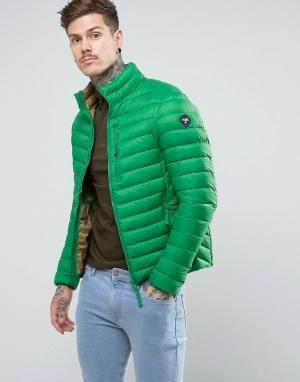 Puffa Короткая дутая куртка. Цвет: зеленый