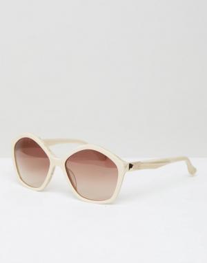 Calvin Klein Солнцезащитные очки CK Premium. Цвет: бежевый