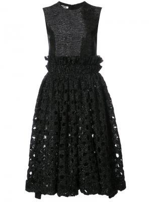 Коктейльное платье из мерцающей ткани Jourden. Цвет: чёрный