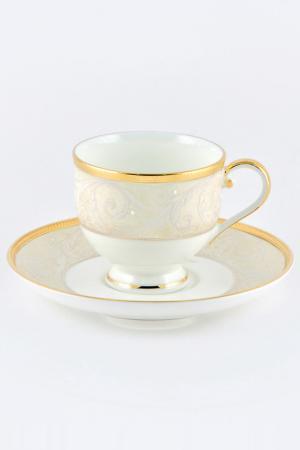Набор кофейных пар 100 мл, 6шт Narumi. Цвет: золотой