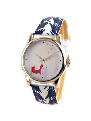 Дизайнерские часы Лиса из леса Tina Bolotina. Цвет: синий, красный, белый