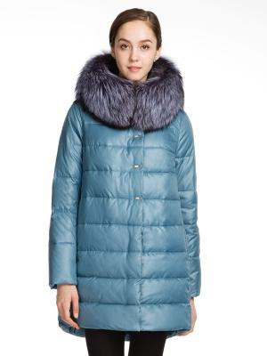 Пальто WINTERRA. Цвет: голубой