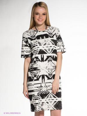 Платье SELECTED. Цвет: черный, молочный