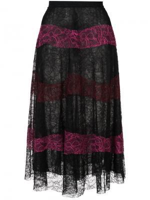 Кружевная юбка Verma Sachin & Babi. Цвет: чёрный