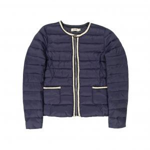 Куртка стеганая легкая на молнии MOLLY BRACKEN. Цвет: темно-синий