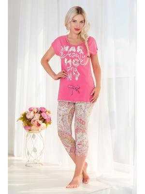 Домашний костюм Mia Cara. Цвет: розовый