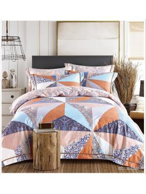 Комплект постельного белья ROMEO AND JULIET. Цвет: голубой, бледно-розовый, рыжий