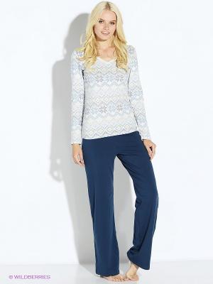 Пижама PELICAN. Цвет: белый, синий