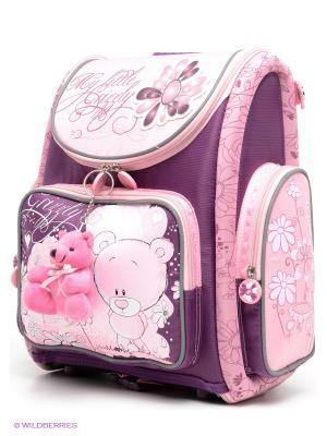 Ранец Grizzly. Цвет: розовый, сливовый