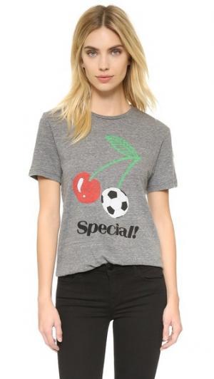 Футболка Special с округлым вырезом Rxmance. Цвет: серый меланж