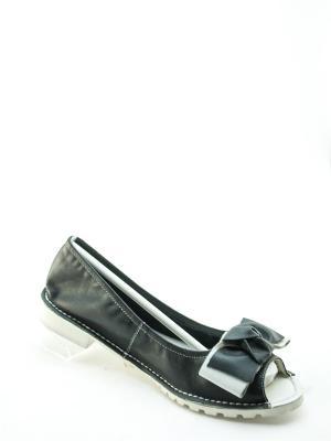 Туфли открытые Jeleni. Цвет: черный