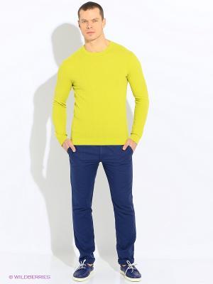 Свитер United Colors of Benetton. Цвет: светло-желтый, желтый, салатовый