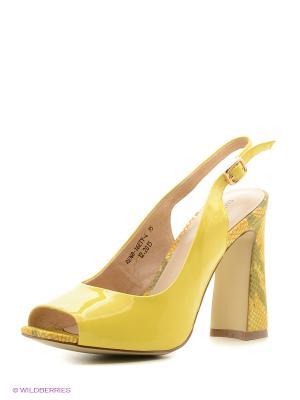 Босоножки EMILIA ESTRA. Цвет: желтый
