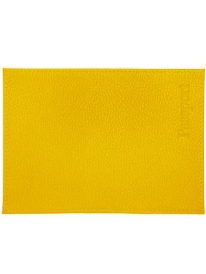 Обложка для паспорта желтая Tina Bolotina. Цвет: желтый