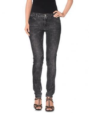 Джинсовые брюки REIKO. Цвет: стальной серый