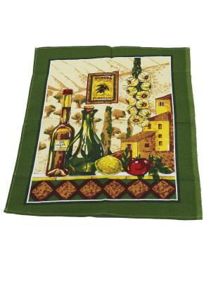 Набор кухонных полотенец Римейн. Цвет: зеленый