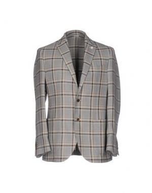 Пиджак LUIGI BIANCHI Mantova. Цвет: светло-серый