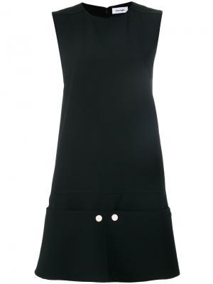 Платье шифт дизайна колор-блок Courrèges. Цвет: чёрный