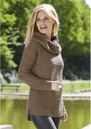 Пуловер Y.O.U.. Цвет: коричневый