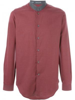 Рубашка с воротником-стойкой Vangher. Цвет: красный
