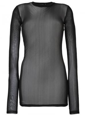 Прозрачная блузка с длинными рукавами Blk Dnm. Цвет: чёрный