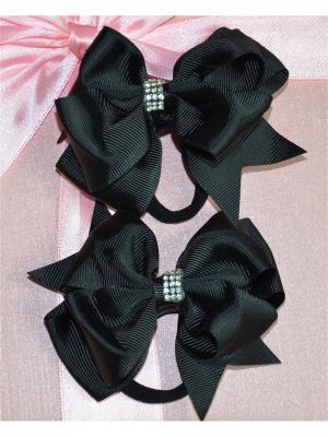 Резинка для волос Bizon. Цвет: черный