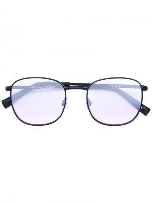 Квадратные солнцезащитные очки с затемненными линзами Le Specs. Цвет: чёрный