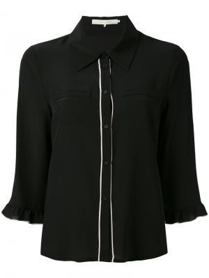 Рубашка с укороченными рукавами LAutre Chose L'Autre. Цвет: чёрный