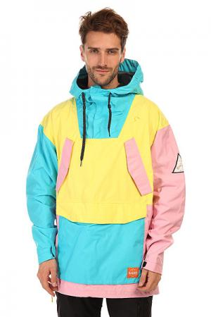 Анорак сноубордический  Meyers Jacket Neon Thirty Two. Цвет: голубой,желтый,розовый