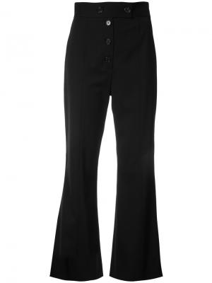 Укороченные расклешенные брюки Proenza Schouler. Цвет: чёрный