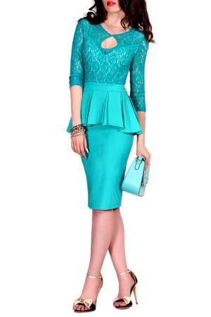 Платье MONT PELLIER. Цвет: изумрудный, кружево