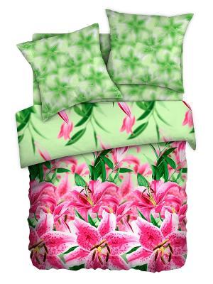 Постельное белье Любимый Дом. Цвет: салатовый, розовый
