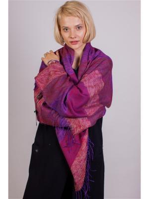 Шарф-плед Laura Milano. Цвет: розовый, бордовый, фиолетовый