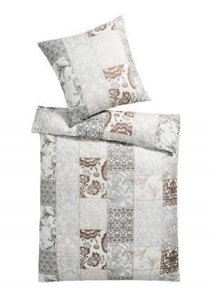 Постельное белье Heine Home. Цвет: серый/бежевый