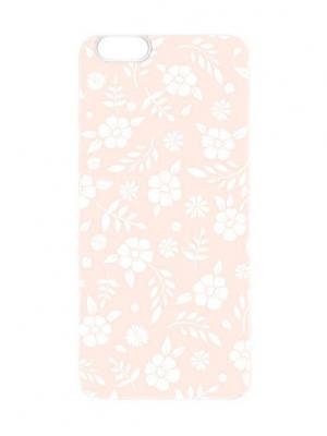 Чехол для iPhone 6 Розовый принт Chocopony. Цвет: кремовый, белый