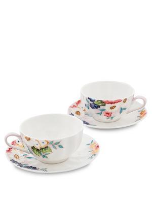 Чайный набор на 2 перс. Королева Камилла (Pavone) Pavone. Цвет: белый