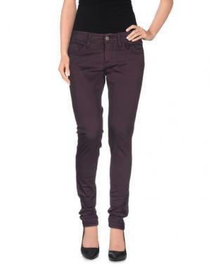 Повседневные брюки MELTIN POT. Цвет: баклажанный