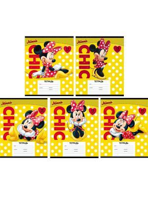 Тетради линейка Минни  20 шт Disney. Цвет: желтый, черный, красный