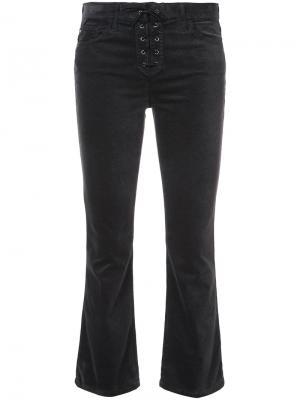 Укороченные брюки со шнуровкой Jodi Ag Jeans. Цвет: серый
