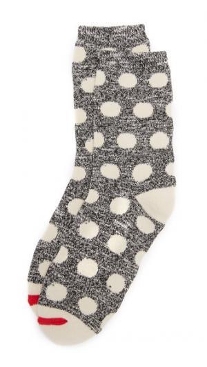 Носки под брюки из фактурной ткани с рисунком в горошек Madewell