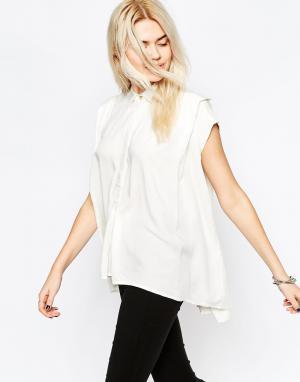 RVCA Рубашка без рукавов. Цвет: винтажный белый