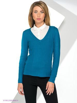 Пуловер Yuka. Цвет: лазурный