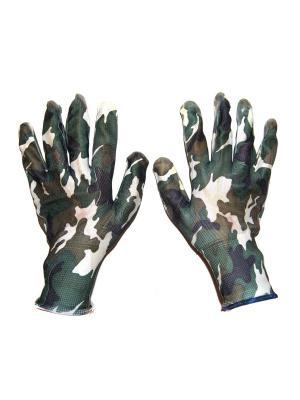 Перчатки садовые, 2 шт DiMi. Цвет: хаки