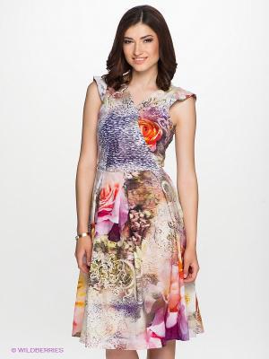 Платье Verezo. Цвет: фиолетовый, розовый